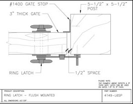 Twisted Ring Gate Latch product installation details
